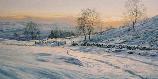 winter snow and ice - wintry landscapes of Scotland