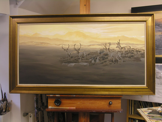 Roe Deer Painting for Sale - Thawing Snow
